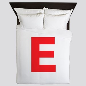 Letter E Red Queen Duvet