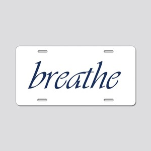 Breathe Aluminum Aluminum License Plate