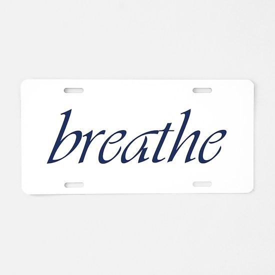 Breathe.Psd Aluminum Aluminum License Plate