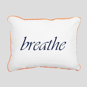 Breathe Rectangular Rectangular Canvas Pillow