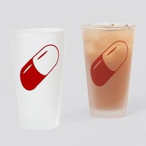 Large Red Cspule Drinking Glass