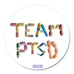 Team PTSD Button Round Car Magnet