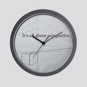 It's all about Perspective Wall Clock