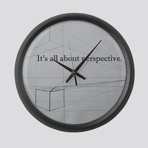 It's all about Perspective Large Wall Clock