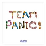 Team Panic! Button Square Car Magnet 3