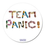 Team Panic! Button Round Car Magnet