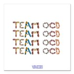 Team OCD Button Square Car Magnet 3