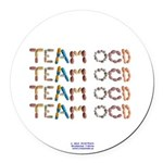 Team OCD Button Round Car Magnet