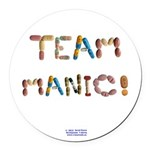 Team Manic! Button Round Car Magnet
