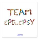Team Epilepsy Button Square Car Magnet 3