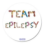 Team Epilepsy Button Round Car Magnet