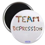 Team Depression Button Magnets