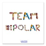 Team Bipolar Button Square Car Magnet 3