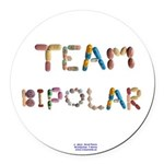 Team Bipolar Button Round Car Magnet