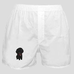 Poodle pup (blk) Boxer Shorts