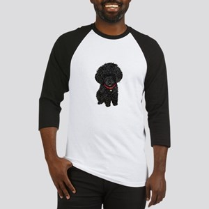 Poodle pup (blk) Baseball Jersey