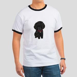 Poodle pup (blk) Ringer T