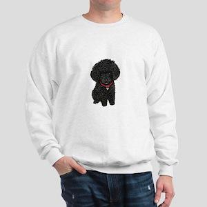 Poodle pup (blk) Sweatshirt