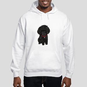 Poodle pup (blk) Hooded Sweatshirt