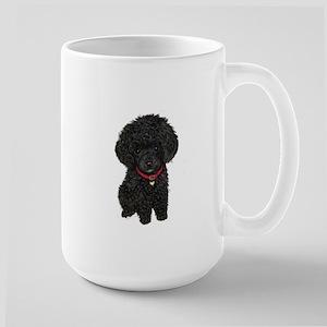 Poodle pup (blk) Large Mug