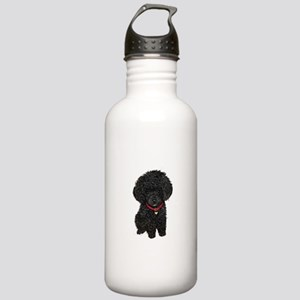 Poodle pup (blk) Stainless Water Bottle 1.0L