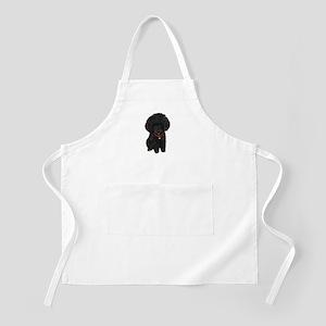 Poodle pup (blk) Apron