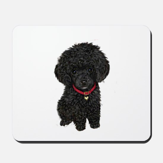 Poodle pup (blk) Mousepad