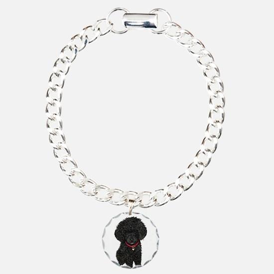 Poodle pup (blk) Bracelet