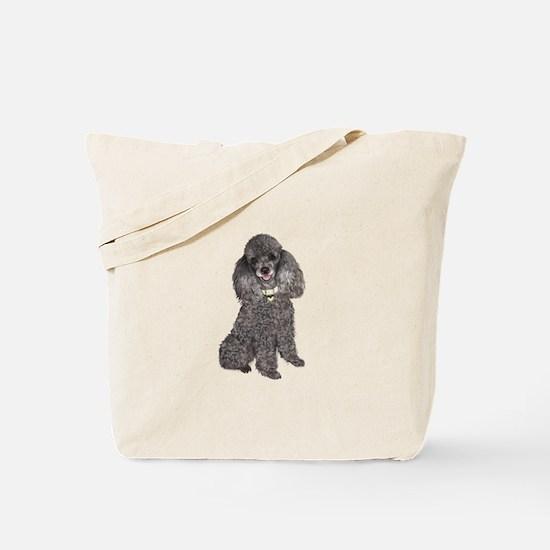 Poodle (Min-Slvr) Tote Bag