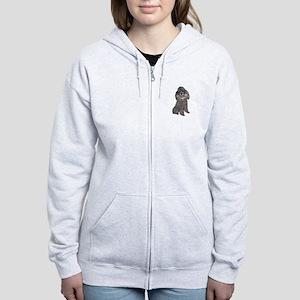Poodle (Min-Slvr) Women's Zip Hoodie