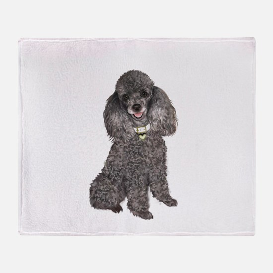 Poodle (Min-Slvr) Throw Blanket