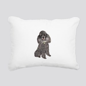 Poodle (Min-Slvr) Rectangular Canvas Pillow