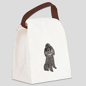 Poodle (Min-Slvr) Canvas Lunch Bag