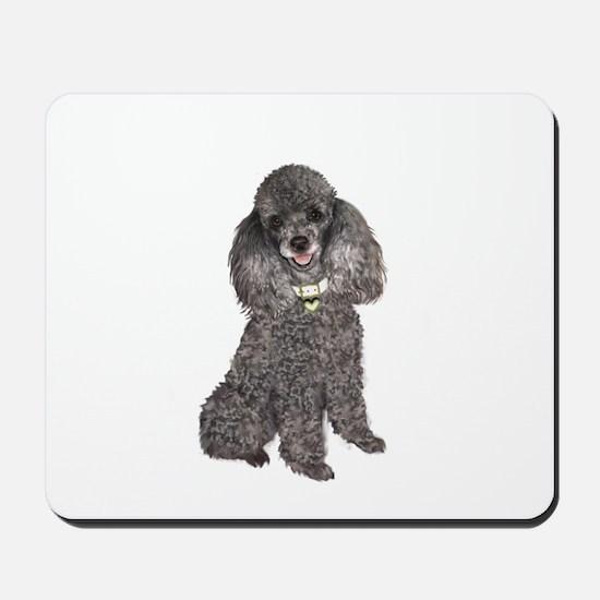 Poodle (Min-Slvr) Mousepad