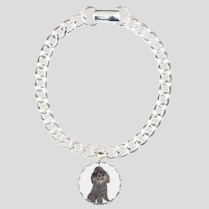 Poodle (Min-Slvr) Charm Bracelet, One Charm