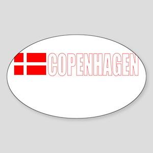 Copenhagen, Denmark Oval Sticker