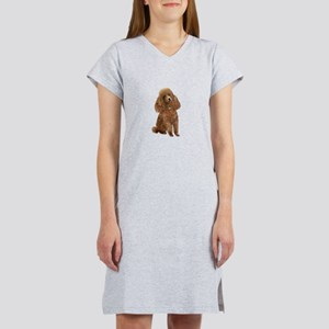 Poodle (toy-Min Apric.) Women's Nightshirt