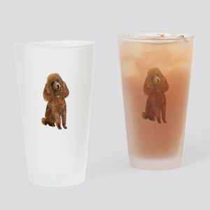 Poodle (toy-Min Apric.) Drinking Glass