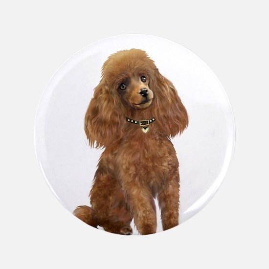 """Poodle (toy-Min Apric.) 3.5"""" Button"""