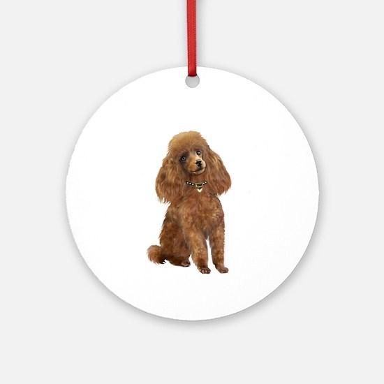 Poodle (Toy-Min Apric.) Ornament (Round) Ornament