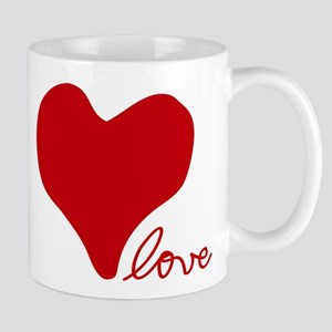 RED HEART LOVE inspired by Pablo Neruda Mugs