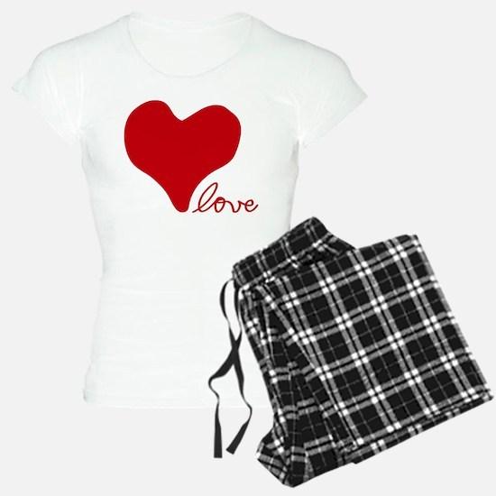 RED HEART LOVE inspired by Pablo Neruda Pajamas