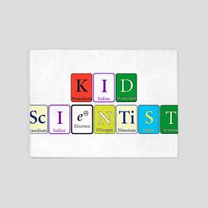 Kid Scientist 5'x7'Area Rug