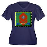 Military Duc Women's Plus Size V-Neck Dark T-Shirt
