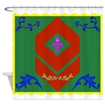 Military Duchess Rank Badge Shower Curtain