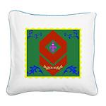 Military Duchess Rank Badge Square Canvas Pillow
