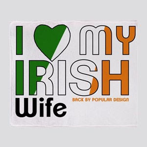 I Love My Irish Wife Throw Blanket