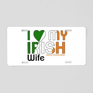 I Love My Irish Wife Aluminum License Plate