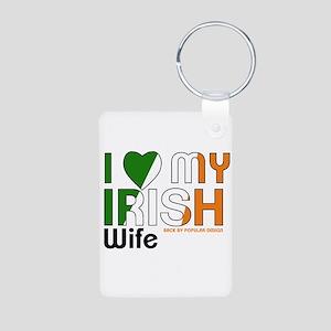 I Love My Irish Wife Keychains