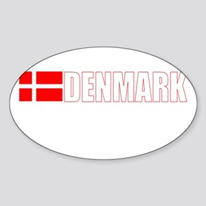 Denmark Oval Sticker